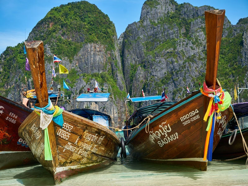 Boats in Thailand waters
